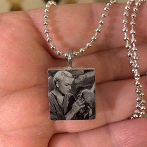 Laurence Olivier As Hamlet Scrabble Tile Necklace